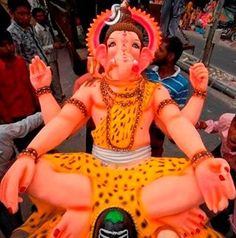 """""""LORD GANESHA"""" in the avatar of his father- """"LORD SHIVA"""" Lord Ganesha, Lord Shiva, Arte Krishna, Hindu Deities, Avatar, Religion, Saints, Father, Friends"""