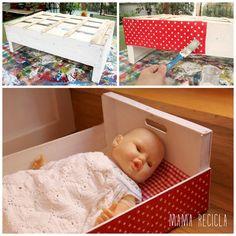 Mamà recicla: Llits de nines estampats / Camas de muñecas estampadas / Camas de bonecas estampadas