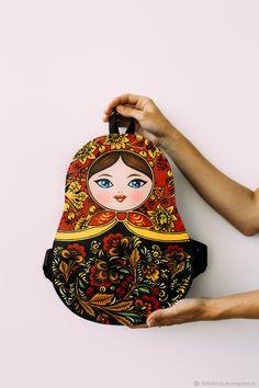 Backpacks handmade. Backpack leather women's 'Matryoshka'. LITTLE BIRDS leather crafts. My Livemaster.Autumn fashion, urban backpack