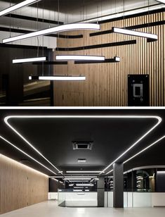 East Campus Office Building Green Fields Consulting Tilt-up Concrete Modern Architecture Design Inte Corporate Interior Design, Corporate Interiors, Office Interiors, Retail Design, Interior Ceiling Design, Interior Lighting, Interior Design Living Room, Office Ceiling Design, Design Commercial