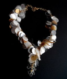 Statement #necklace made of recycled plastic bottles #accessories #jewelry
