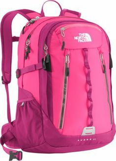 The North Face Women's Surge 2 Laptop Backpack Shocking Pink/Gem Pink - via eBags.com!