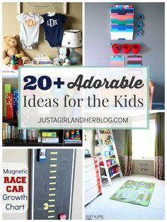 20 Adorable Ideas for the Kids   JustAGirlAndHerBlog.com