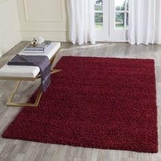 Safavieh Athens Shag Red Rug (6' x 9')