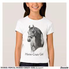 HORSE: PENCIL: HORSE-CRAZY: GIRL