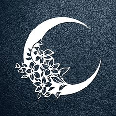 FLOWER MOON >> You are buying the digital template of this cut only, not a finished cut. This file is ready to be used with your Cricut, Silhouette Cameo, Brother, or similar cutting machines. The template can be scaled to any size you need for printing or cutting purposes. HOW DOES IT