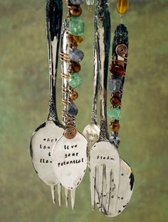 silverware windchimes images   | Impressed with ImpressArt – Food for my Soul Windchime