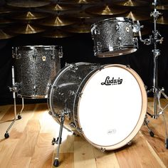 Ludwig Keystone 12/14/20 3pc UpBeat Kit Granite Glitter