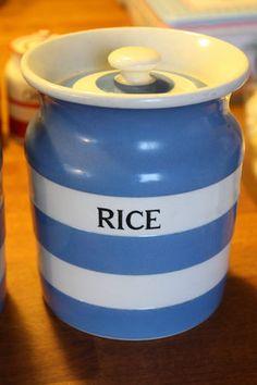 Vintage TG Green Cornishware – Kitchen Storage Jar – Rice – Great! – | eBay