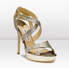 """so fierce! Jimmy Choo Vamp glitter-finish sandals. $750. At various online outlets. Worn by Kate on 5/9/12 at Claridges and on 5/11/12 at the """"Our Greatest Team Rises"""" Olympic Concert."""