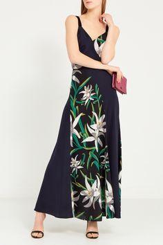 db5cec5f6a2 Шелковое платье на бретелях Diane von Furstenberg - Платье из натурального  шелка от Diane von Furstenberg