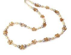 Pearl Necklace & Earrings Freshwater Pearls by SRyanJewelryDesigns