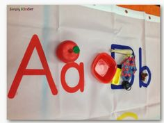 Alphabet Shower Curtain.. durable sorting mat with lots of space!!  =)