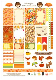 Stickers Happy Planner ✯ Autumn Leaves