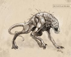 Creature Concept 13 by *NathanRosario on deviantART | Hound of Tindalos?