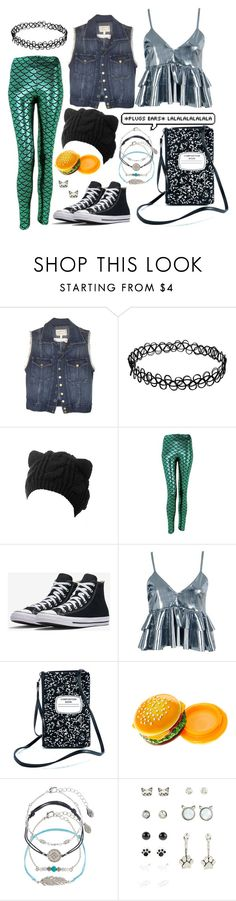 """""""hiiiii"""" by pineapplefashion-ar ❤ liked on Polyvore featuring Current/Elliott, Boohoo, Comeco, Accessorize, cute, denim, denimvest and newtake"""