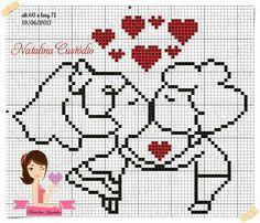 Cross Stitching, Cross Stitch Embroidery, Hand Embroidery, Small Cross Stitch, Cross Stitch Heart, Afghan Crochet Patterns, Loom Patterns, Wedding Cross Stitch Patterns, Pixel Crochet