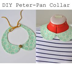 """my sparkle: Removable Peter Pan Collar DIY. Love the site name""""my sparkle"""" (twee!) & the idea of making every crewneck better. Or wearing one as a necklace with a lower cut (but not low cut) top."""