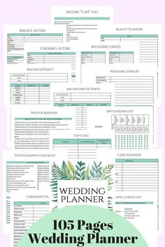 Wedding Checklist Wedding Planner DIY Wedding Planner Pages Printable Wedding - Wedding Planning Notebook, Wedding Planning Tips, Budget Wedding, Party Planning, Trip Planning, Destination Wedding, Wedding Advice, Event Planning Checklist, Planner Book