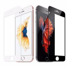 Colorido cubierta completa de vidrio templado para iphone 7 7 plus para iphone 6 6 s plus cobertura completa protector de pantalla templado película de vidrio