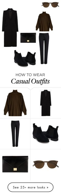 """""""Casual outfit"""" by leveland on Polyvore featuring Joseph, STELLA McCARTNEY, TOMS, Alexander McQueen, Garrett Leight and Victoria Beckham"""