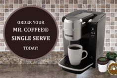 Is the Mr. Coffee® Single Serve the main thing missing from your kitchen? Click on the picture to order your brewer today! #Coffee #mrcoffee