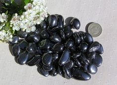 10 Hematite Crystal Tumblestones by SunnyCrystals on Etsy, £3.00 #hematite #crystals #tumblestones #black