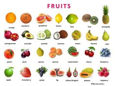 Fruit Berries and Vegetables with pictures and a word list learning English. Learn the names of over 80 fruit and vegetables. Fruits And Vegetables Pictures, Name Of Vegetables, Vegetable Pictures, Fruits And Veggies, Pictures Of Fruits, Vegetables List, Frutas Low Carb, Photo Fruit, Clean Eating Tips