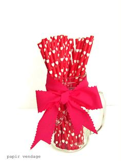 Heart Paper Straws Wedding Paper Straws White by papirvendage