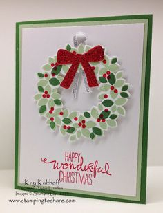 Stamping to Share: Such a Pretty Wondrous Wreath with How To Video PLUS - Cute Halloween Cards!