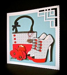 Card Gallery - Handbag, Shoes & Poppies mini kit