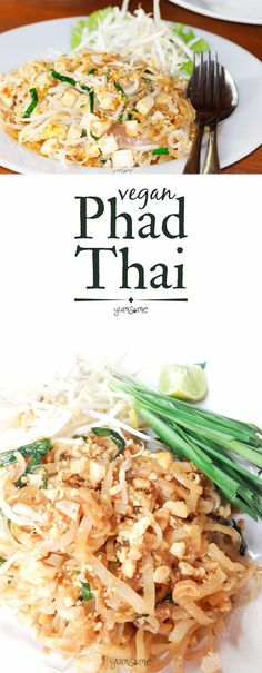 My #vegan version of #Thailand's ubiquitous fried noodle dish, #phad #Thai, is fast, cheap, and easy to make, and very filling. | yumsome.com via @yums0me