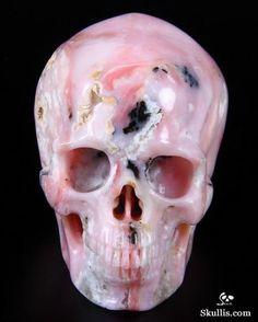 Pink Opal Crystal Skull