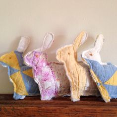 cottonlinenwool on eBay has the shapes to make these sweet Easter bunnies