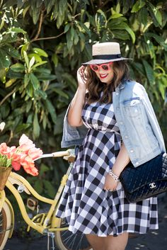 Plus Size Gingham Dress | Lane Bryant Gingham Dress | plus size outfit ideas | spring outfit idea