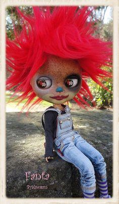FANTA Ooak Custom Blythe Art Doll por LesTizOrphelinByAlsw en Etsy