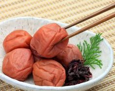 Health Benefits of UMEBOSHI PLUMS: Some conditions that umeboshi plums can help with are: Fatigue, Alcohol poisoning (hang-overs), Vomiting, General nausea (including pregnancy, motion, chemotherapy, etc.), Diarrhea; Dysentery, Infection, Runny nose, Liver toxicity, Oxidation of cells