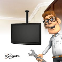 Tip from Larry: Having a tricky corner in your room where you still want to mount a tv? Larry recommends a LCD ceiling mount for this situation. That way, you can make the best use of this space http://www.vogels.com/efc-6215-lcd-ceiling-mount.html