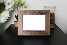 Personalized Picture Frame, Walnut Picture Frame, Personalized Photo Frame, Custom Photo Frame, Wedding Gifts,Custom Frame --pf-wal-williams
