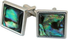 Square Silver Cuff Links with Green Abalone   http://store.classiclegacy.com/178/gifts-for-you/cuff-links   #cufflink #fathersday #giftsformen
