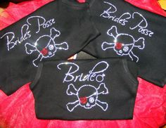 1 Bride's Posse half LACE Tank Top Shirts. Skull Cross Bones Bride Shirt. Bridal Party Tank Top. Bridesmaid. Bride to Be clothing.