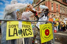 Anti-fracking protests in Lancashire