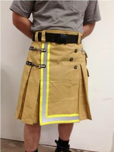 Kilt made from recycled firefighter bunker gear -Could you pull if off Mark and start a new trend?