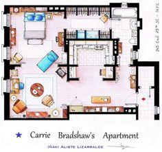 Апартаменты Кэрри Брэдшоу из сериала «Секс в большом городе»