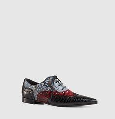 Gucci - gia python brogue lace-up shoe 391564EBQ201063