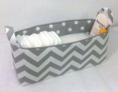 NEW+XLong+Diaper+Caddy+16x6x7+Fabric+BinStorage+by+Creat4usKids,+$40.00