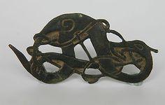 "3 of 12: Viking Bronze ""Midgard Serpent"" Scandinavian, Norse Jormungand 900-1100 AD"