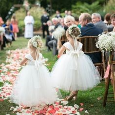Perfectly adorned and just to precious! #flowergirls