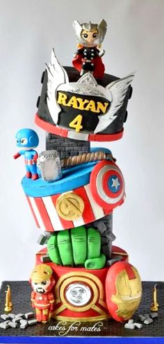 Avengers Theme Cake #coupon code nicesup123 gets 25% off at  www.Provestra.com www.Skinception.com and www.leadingedgehealth.com