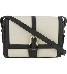 7d912d3547fb ASPINAL OF LONDON Buckle saffiano leather shoulder bag £295.00 £206.50